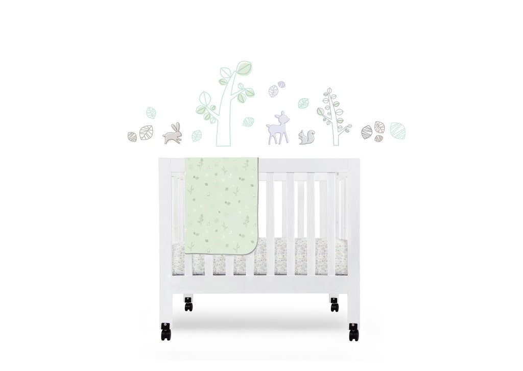 T8075,Tranquil Woods Fitted Mini Crib Sheet