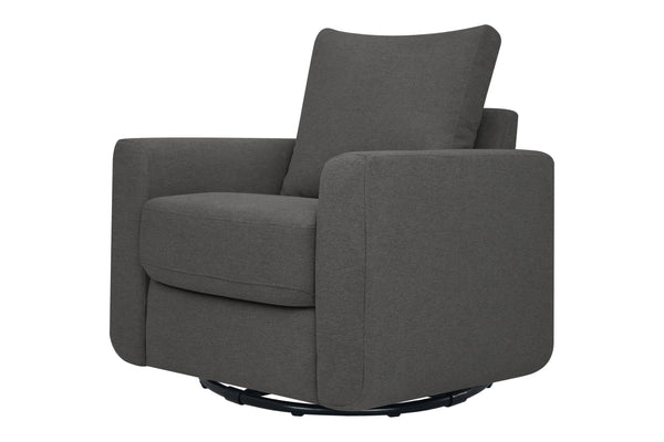 babyletto seating chair grey Bento Glider In Pepper Color Fabric Lunar Grey