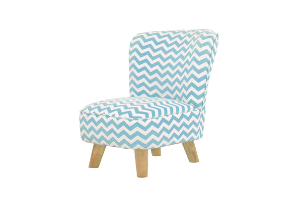 babyletto eco friendly kids Pop Mini Chair Indigo Blue Chevron Blue