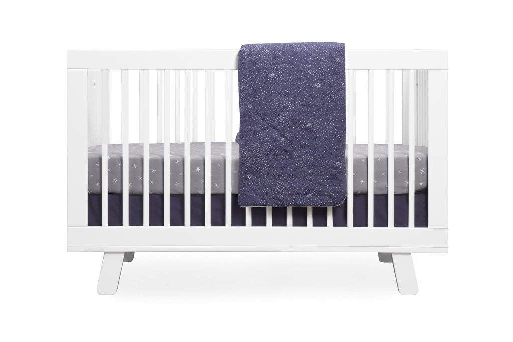 T9052,Galaxy Galactic Grey Stars Fitted Crib Sheet