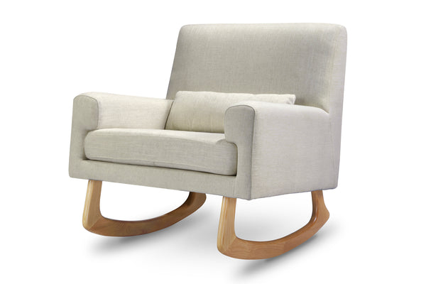 1085BBL,Sleepytime Rocker Pebble Tweed Fabric with Light Legs Oatmeal Linen with Light Legs