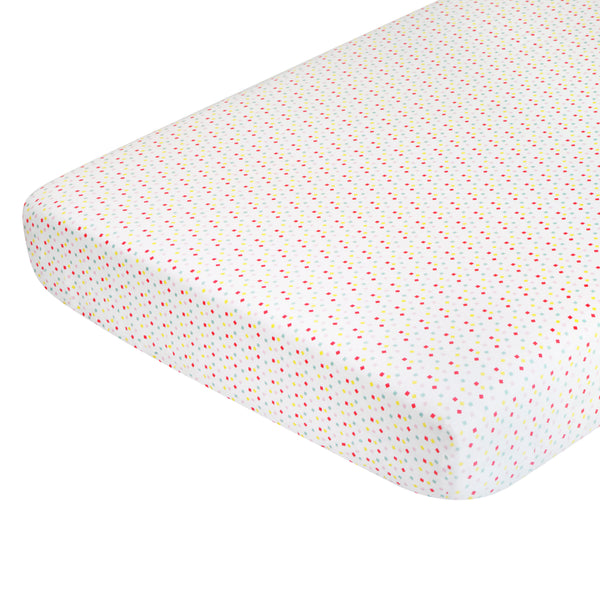T18015,Menagerie Organic Cotton Percale Sheet Confetti