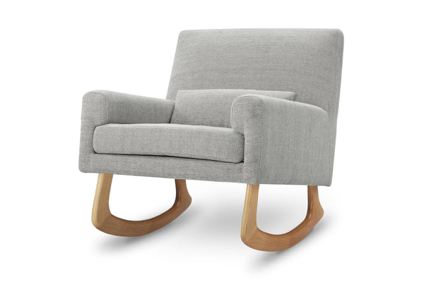 1085BBL,Sleepytime Rocker Pebble Tweed Fabric with Light Legs Light Grey Weave with Light Legs