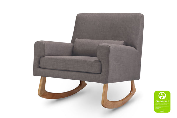 1085BBL,Sleepytime Rocker Pebble Tweed Fabric with Light Legs Pebble Tweed with Light Legs
