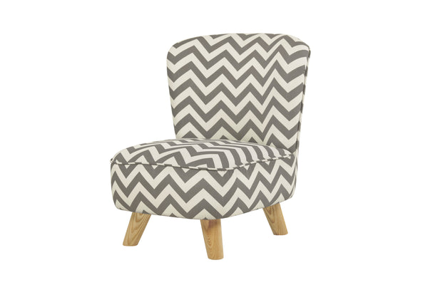 babyletto eco friendly kids Pop Mini Chair Indigo Blue Chevron Grey