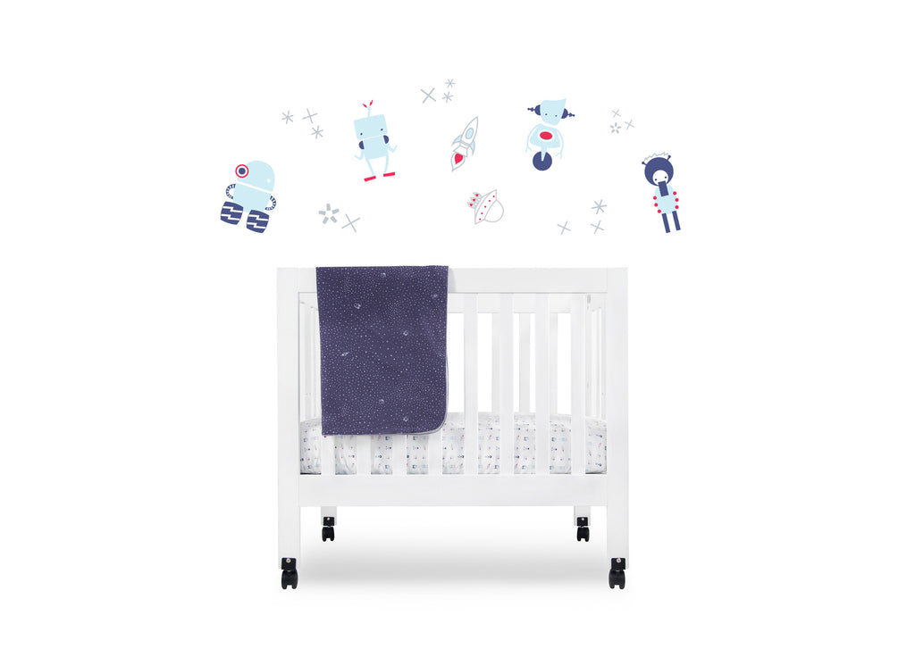 T8055,Galaxy Fitted Mini Crib Sheet