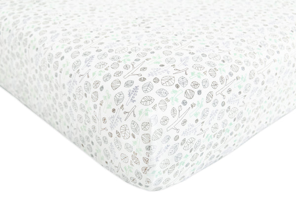 T8070,Tranquil Woods Fitted Crib Sheet