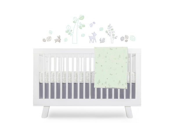 T8270,Tranquil Woods 5-Piece Set Sheet  Skirt  Play Blanket  Pad Cover & Wall Decal Default Title