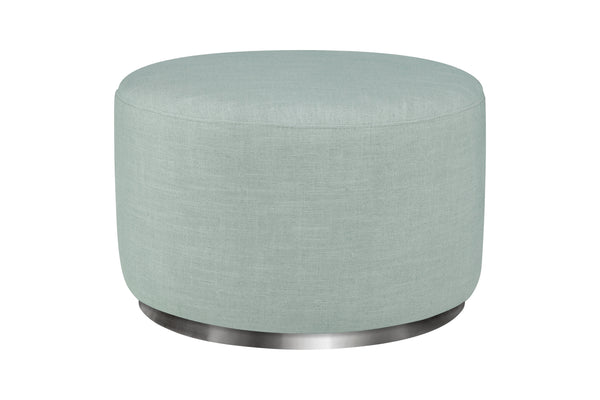 babyletto seating chair Tuba Gliding Ottoman in in Seafoam Fabric