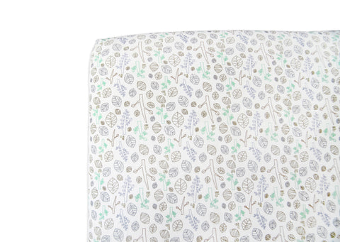 Tranquil Woods Fitted Mini Crib Sheet