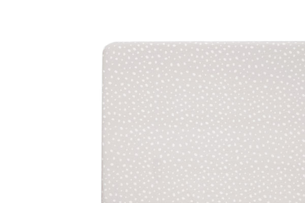 T11570,Tuxedo Dots Mini Crib Sheet in Grey Dots Print Default Title