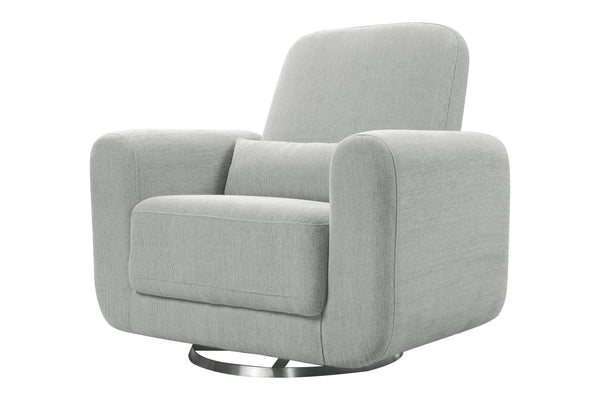 babyletto seating chair Tuba Glider In Winter Grey Weave Finish