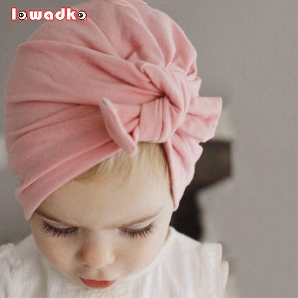 Cotton baby girl bohemian style hat