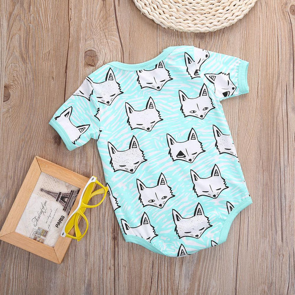 CUTE FOX PRINT BABY ROMPER - LIMITED EDITION