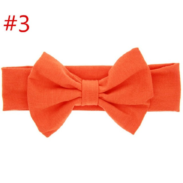PLAIN BIG BOW HEADBAND