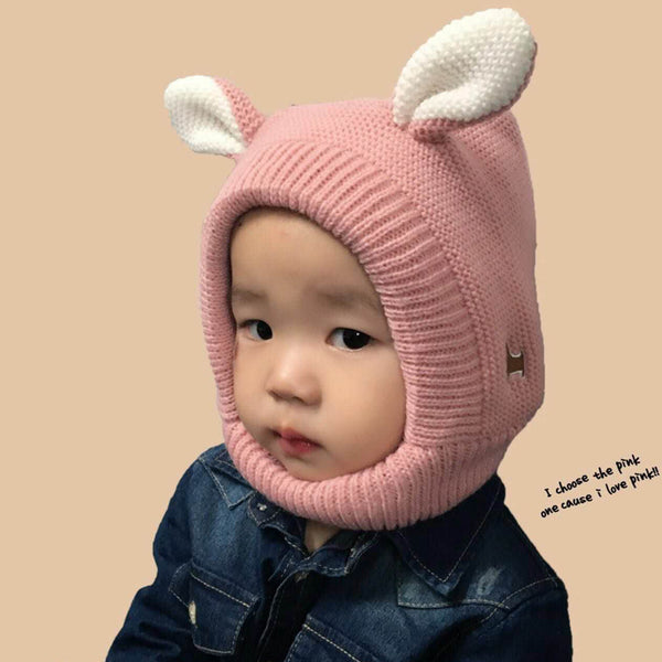 BABY NECK WARMING BUNNY HAT