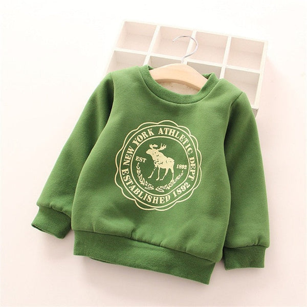 GREEN MODERN WARM-ALL-DAY COZY SWEATSHIRT