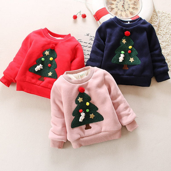 CHRISTMAS TREE BABY SWEATER