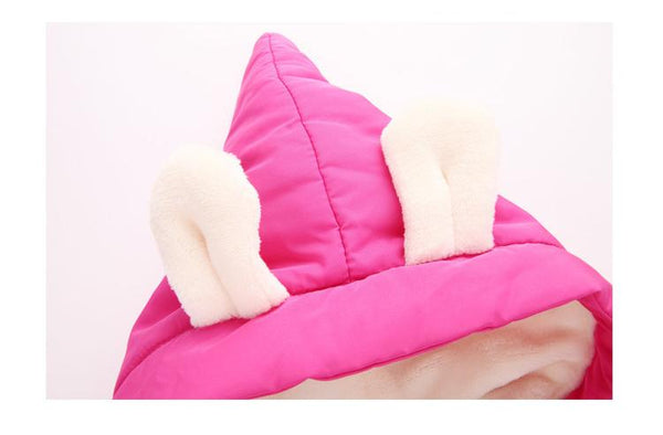 CUTE BUNNY INSULATING WINTER SUIT