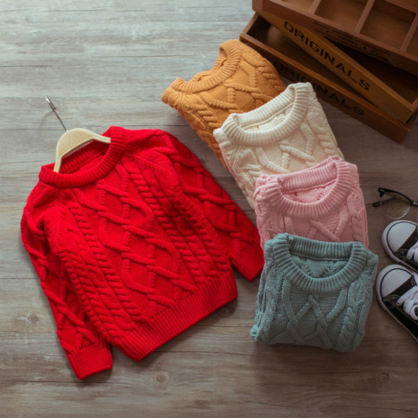 COLORFUL HAND KNITTED BABY SWEATERS