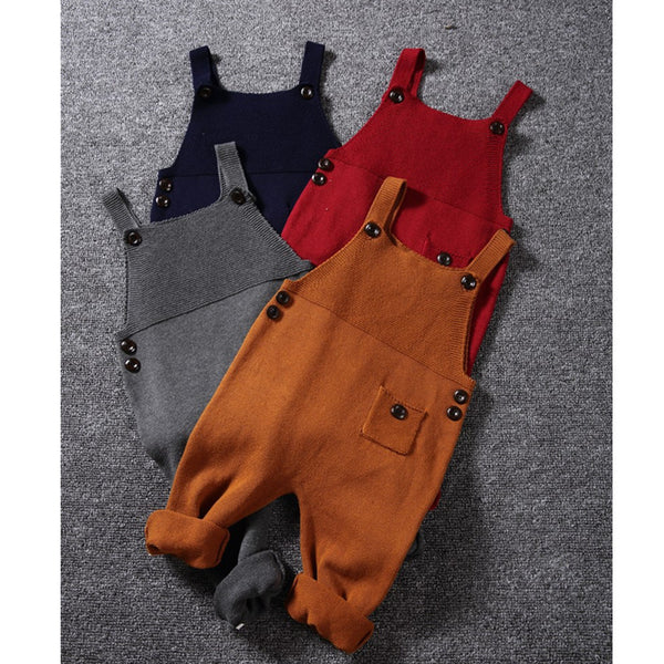 BABY SWEATER STYLE OVERALLS