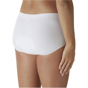 DBrief Women's Washable Full Brief - 4-Packs in White or Black - ConfidenceClub