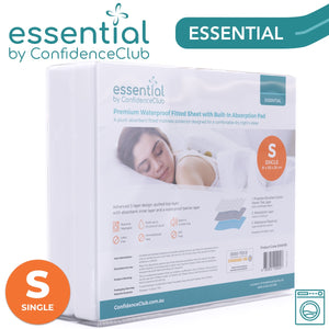 Premium Waterproof Fitted Sheet With Soft Absorbent Top Layer - ConfidenceClub