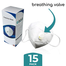 Load image into Gallery viewer, 15 x KN95 Masks With Breathing Valve - Individually Packed - ConfidenceClub