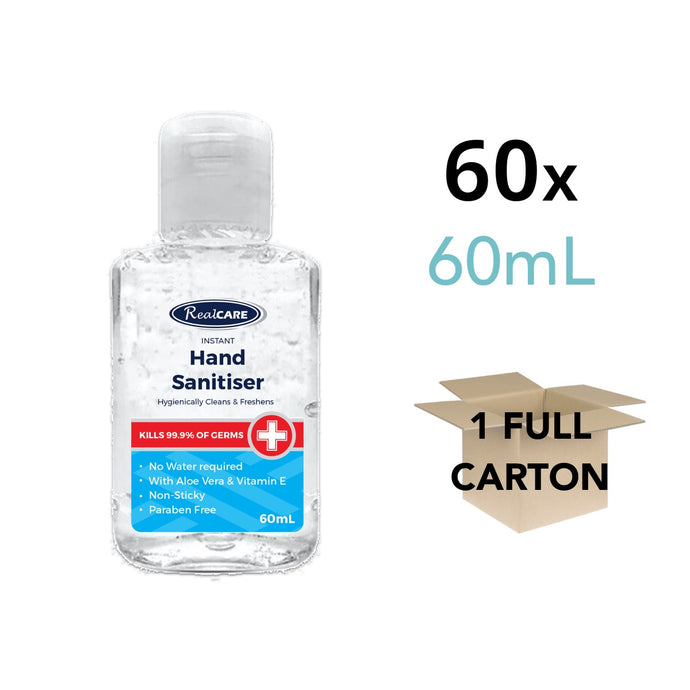 Hand Sanitiser 60mL Carton - 60 x 60mL Handy Bottles - ConfidenceClub