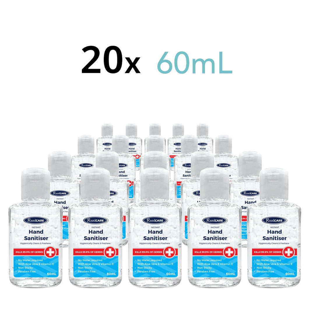 Hand Sanitiser Travellers - 20 x 60mL Handy Bottles - ConfidenceClub