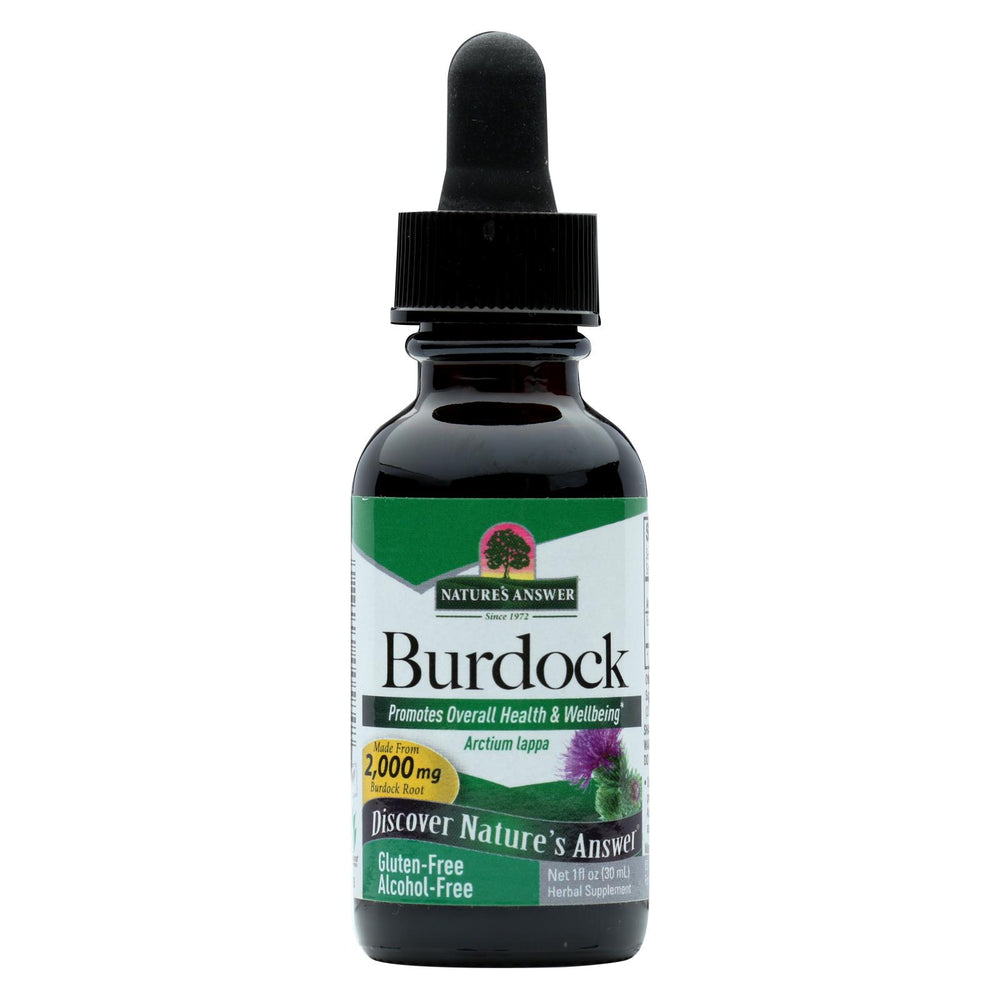 Nature's Answer Burdock Root Alcohol Free - 1 Fl Oz