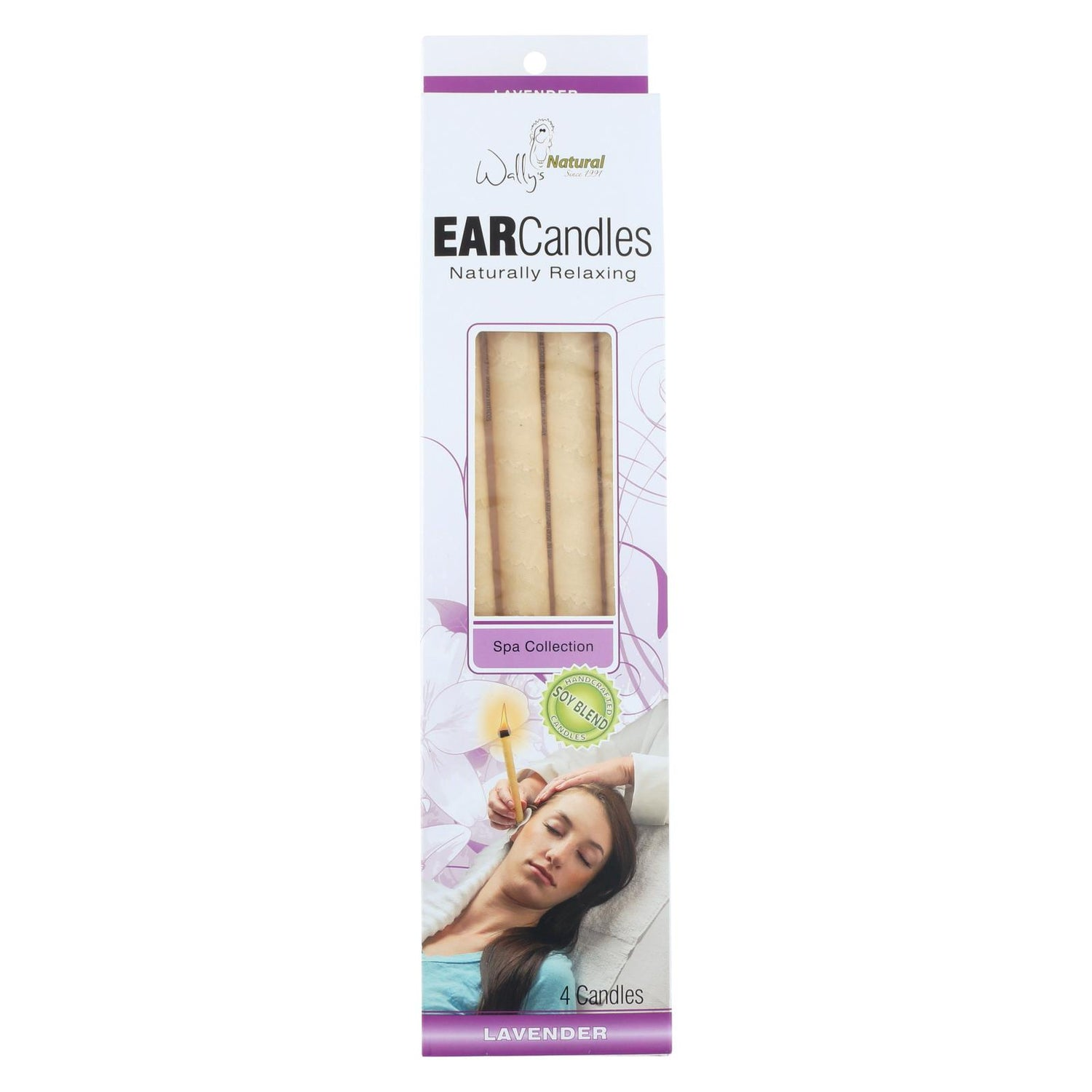 Wally's Ear Candles Lavender Paraffin - 4 Candles