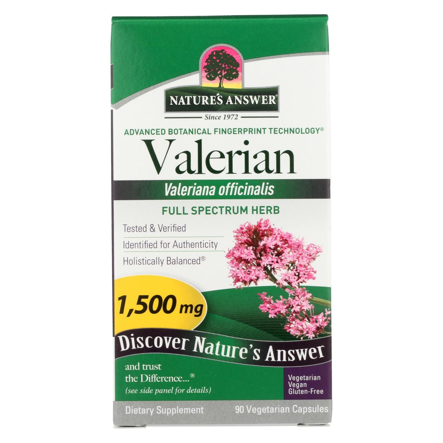 Nature's Answer Valerian Root - 90 Caps