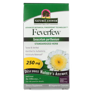 Load image into Gallery viewer, Nature's Answer Feverfew Herb - 90 Vegetarian Capsules