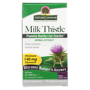 Load image into Gallery viewer, Nature's Answer Milk Thistle Seed Extract - 60 Vegetarian Capsules