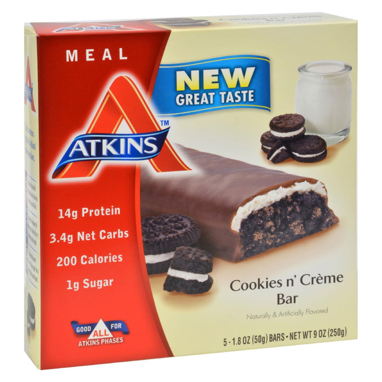 Atkins Advantage Bar Cookies N Creme - 5 Bars