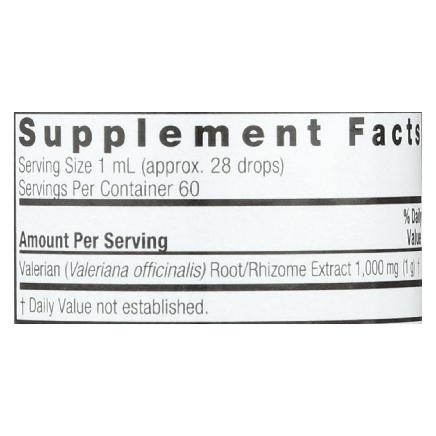 Nature's Answer Valerian Root Alcohol Free - 2 Fl Oz