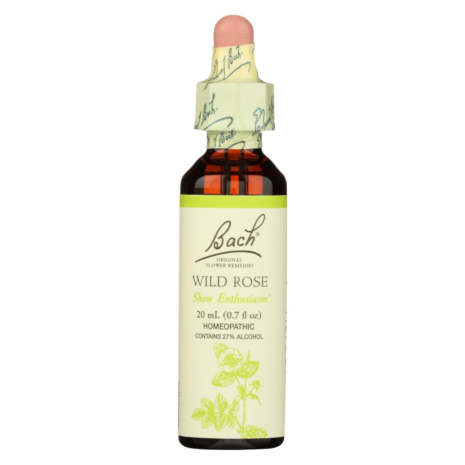 Bach Flower Remedies Essence Wild Rose - 0.7 Fl Oz