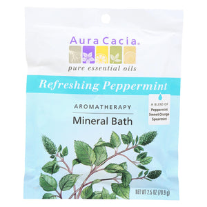 Load image into Gallery viewer, Aura Cacia Aromatherapy Mineral Bath Peppermint Harvest - 2.5 Oz - Case Of 6