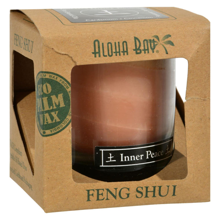 Aloha Bay Feng Shui Elements Palm Wax Candle - Earth-inner Peace - 2.5 Oz