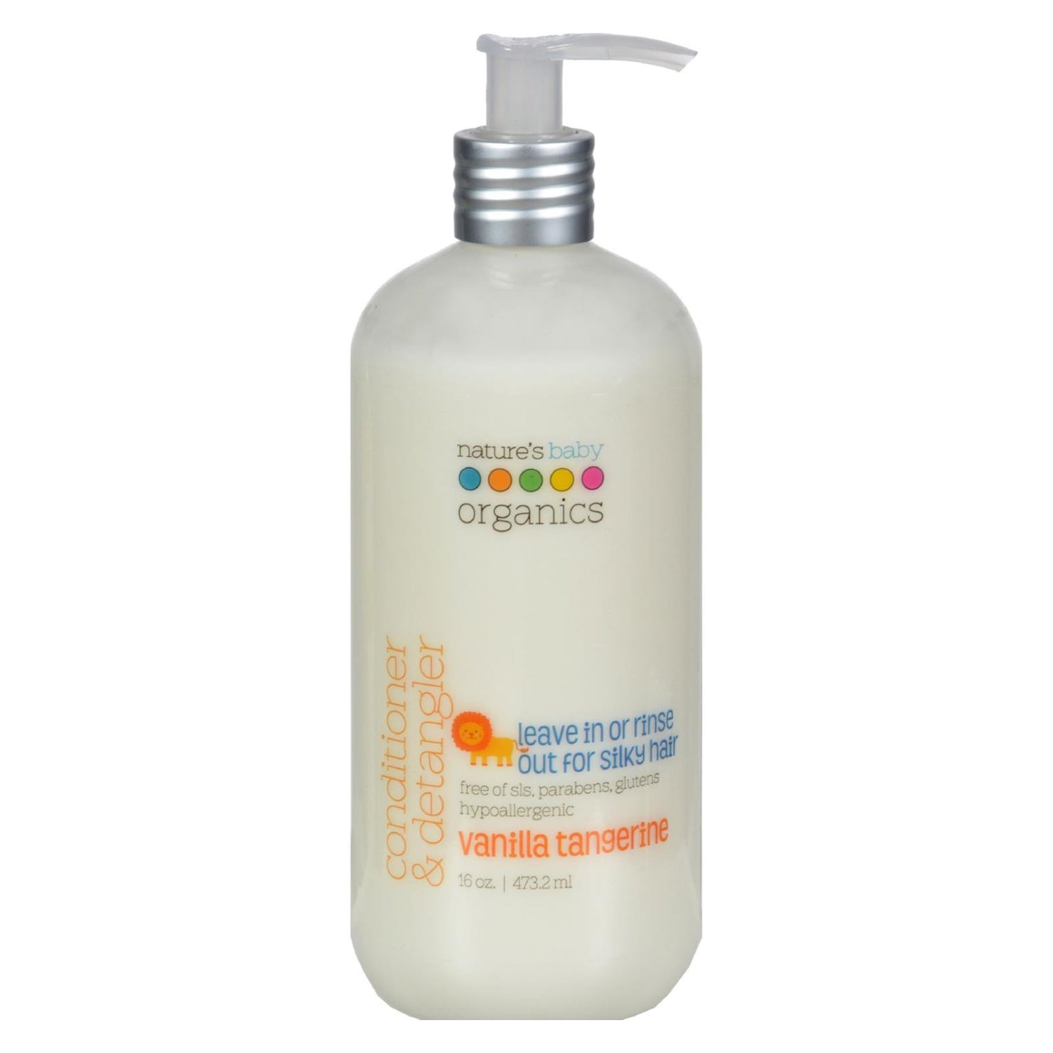 Nature's Baby Organics Conditioner And Detangler Vanilla Tangerine - 16 Fl Oz