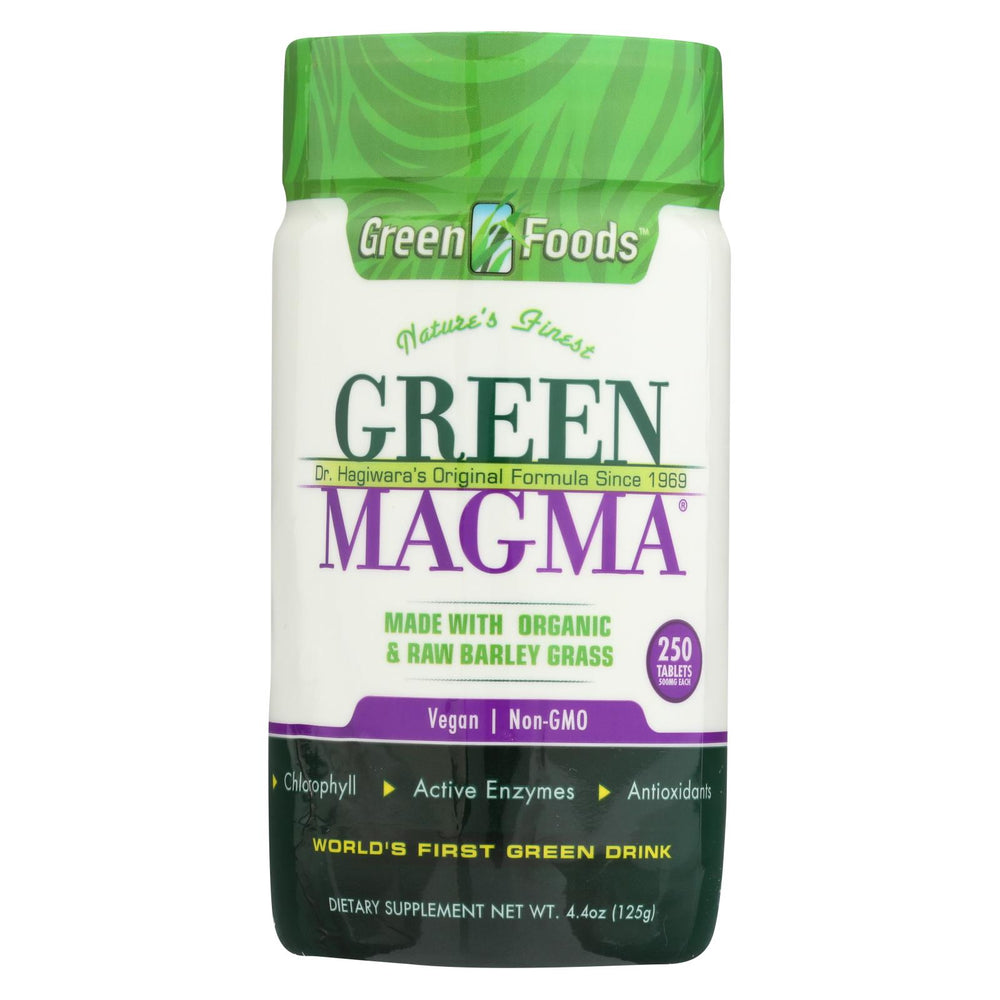 Load image into Gallery viewer, Green Foods Dr Hagiwara Green Magma Barley Grass Juice Powder - 250 Tablets