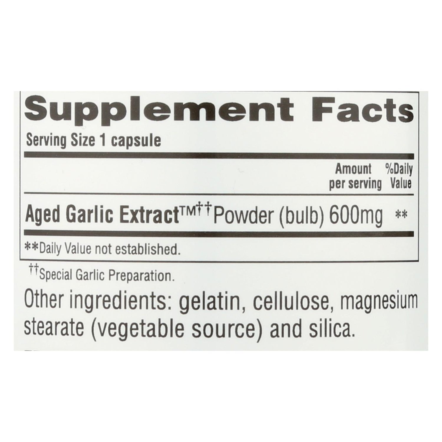 Kyolic Aged Garlic Extract Cardiovascular Extra Strength Reserve - 120 Capsules