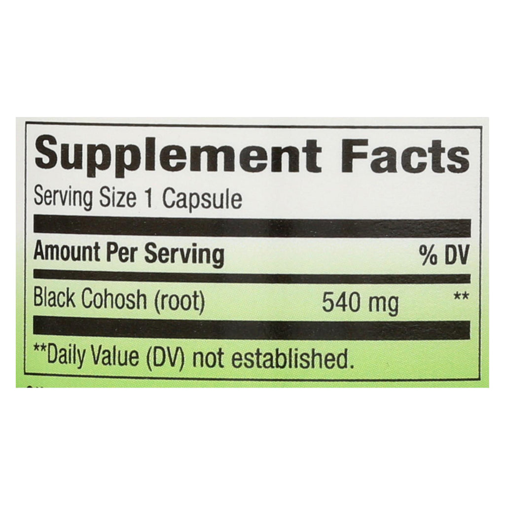 Nature's Way Black Cohosh Root - 100 Capsules