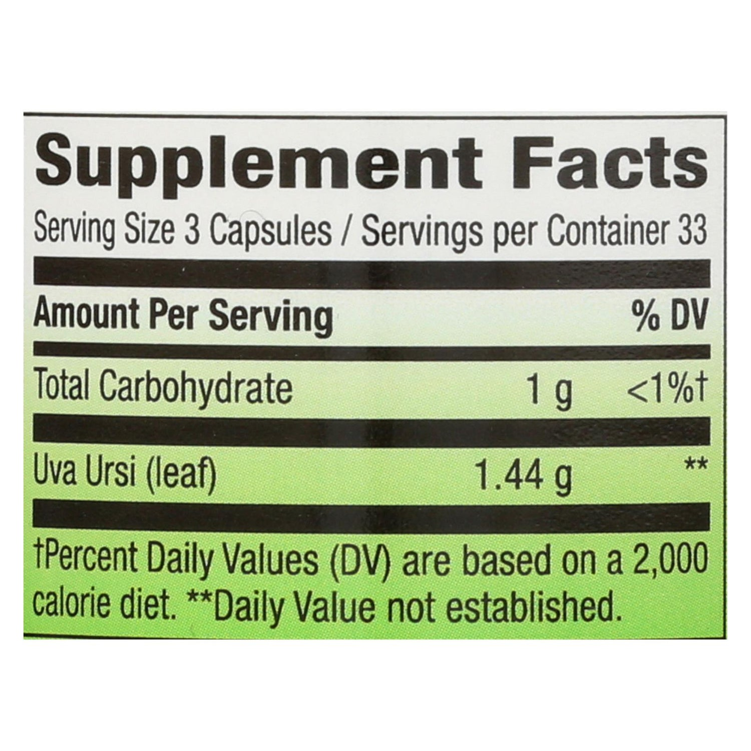 Nature's Way Uva Ursi Leaves - 480 Mg - 100 Capsules