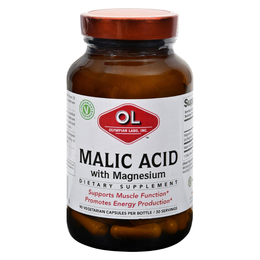 Olympian Labs Malic Acid With Magnesium - 90 Vegetarian Capsules