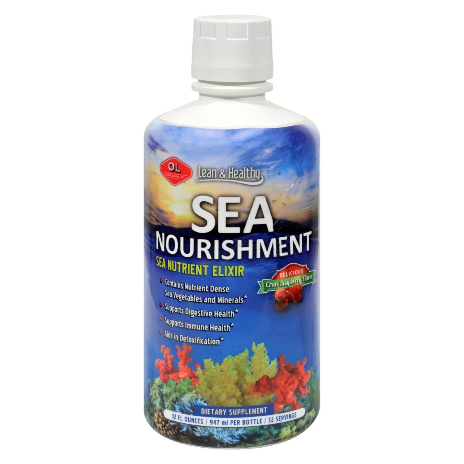 Olympian Labs Sea Nourishment Cran-raspberry - 32 Fl Oz