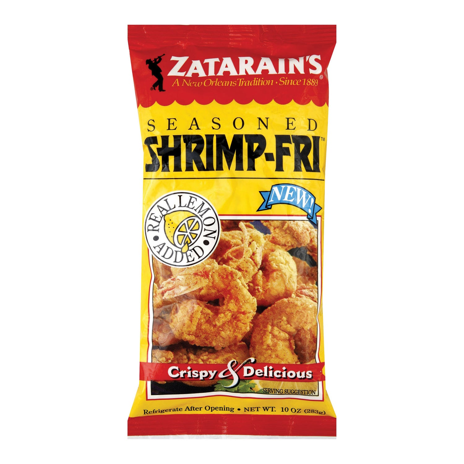 Zatarain's Shrimp Fry - Seasoned - Case Of 12 - 10 Oz.