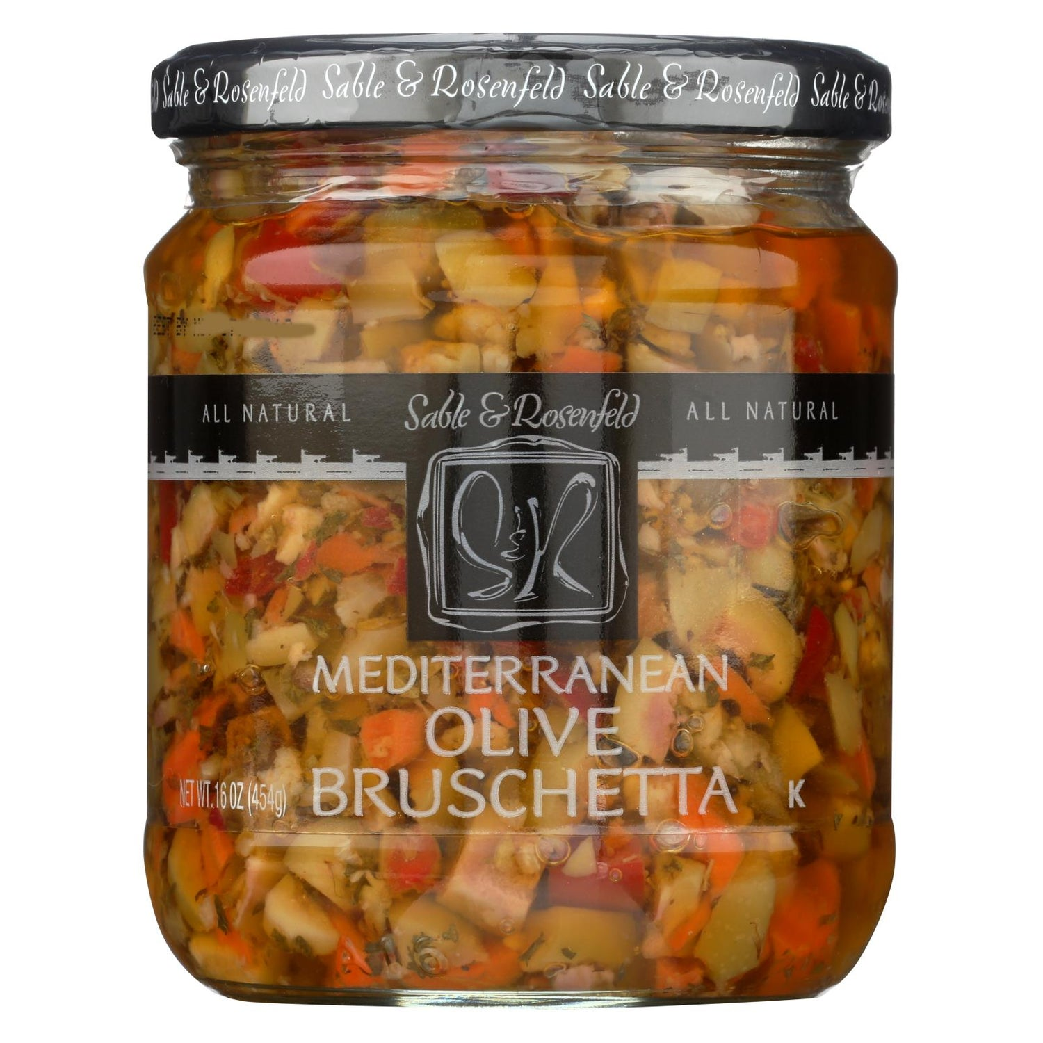 Sable And Rosenfeld Olive Bruschetta - Mediterranean - Case Of 6 - 16 Oz.
