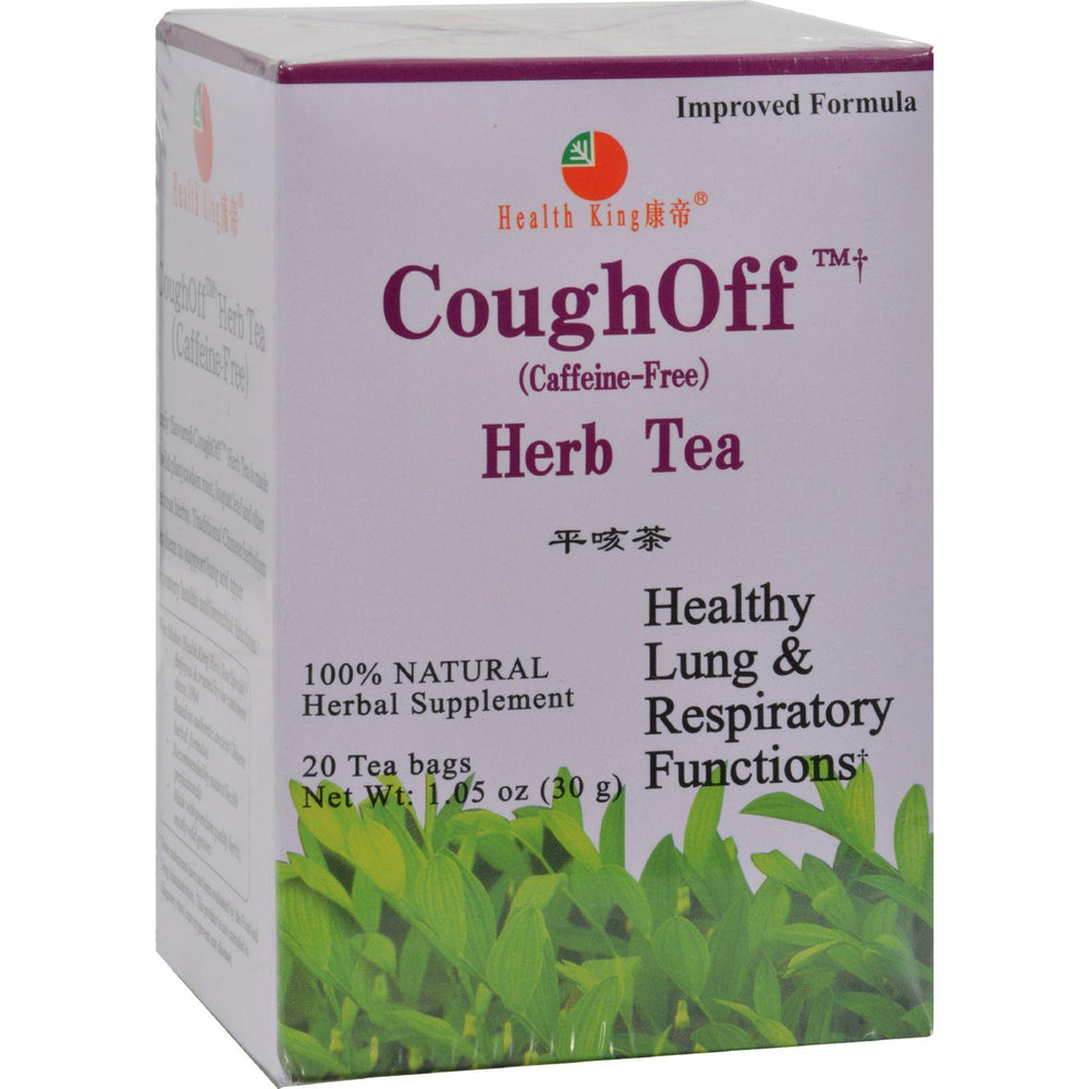 Load image into Gallery viewer, Health King Cough-off Herb Tea - 20 Tea Bags